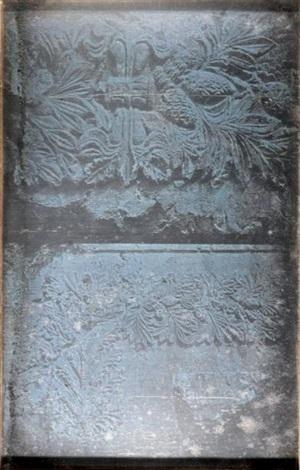 tombeaux des rois bas relief végétal près de jérusalem by joseph philibert girault de prangey