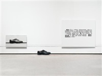 one and three shoes (in 3 parts) by joseph kosuth