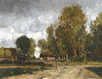 landscape with cottage by lászló paál