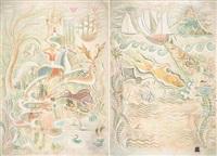 la pêche miraculeuse et la chasse royale (2 works) by h.c.o.
