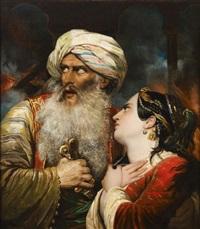ali pacha et vasiliki by raymond auguste quinsac monvoisin