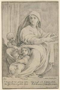 madonna and child with saint john by lodovico carracci