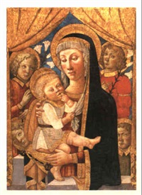 the virgin and child with attendant saints by master of san miniato