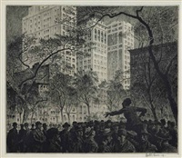 the orator, madison square by martin lewis