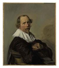 portrait of a gentleman in a black coat by frans hals the elder
