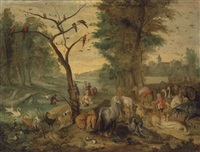the entry into noah's ark by jan brueghel the younger