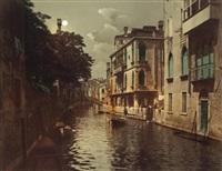 rio santi apostoli avec effets de clair de lune, venise by carlo naya