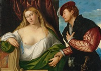 woman visited by her lover by bernardino licinio