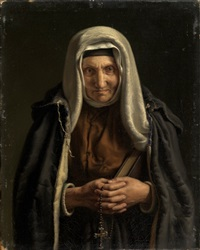 religious woman by evgraf reitern