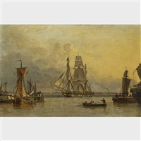 the william lee arriving at hull by john ward of hull