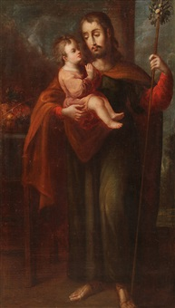 st. joseph and the infant christ by jose ibarra