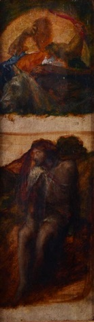 samson and one other figure study by george frederick watts