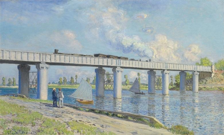 le pont du chemin de fer à argenteuil by claude monet
