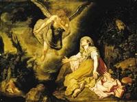 the angel appearing to hagar in the desert of beersheba by pieter lastman
