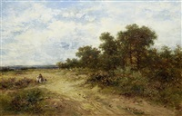 figures on a heath by edward henry holder