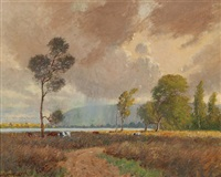 the windswept marsh by william lister-lister
