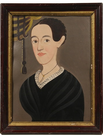 portrait of a young lady by american school prior hamblen 19