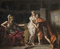 alexandre cédant campaspe, sa maîtresse, à apelle by jérome-martin langlois