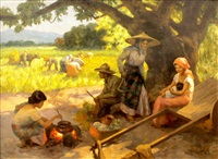 after meal of the rice workers by fernando cueto amorsolo