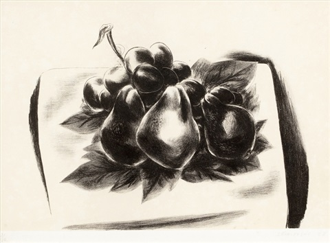 pears and grapes by yasuo kuniyoshi