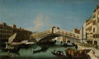 veduta veneziana con il ponte di rialto by francesco albotti