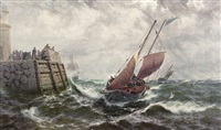after a stormy night, douglas, isle of man by thomas rose miles