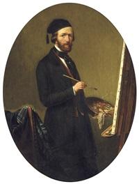 autoportrait devant le chevalet by theodore bernard de heuvel