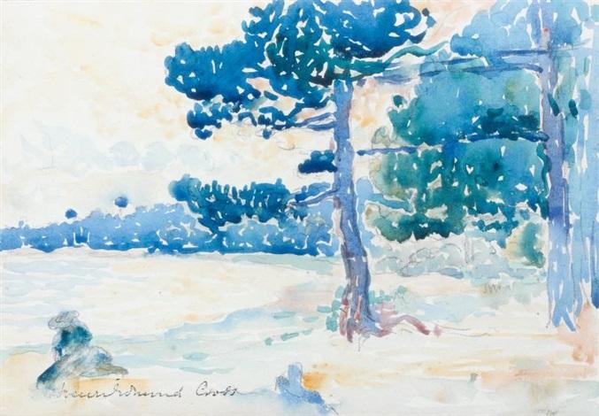 les pins en bord de mer le lavandou by henri edmond cross