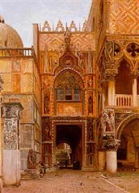 la porta della carta nel palazzo ducale, venezia by john wharlton bunney