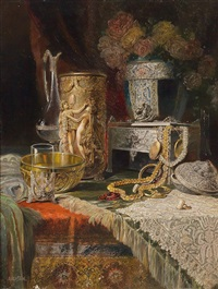 still life with antiques by ludwig augustin