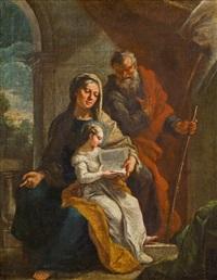 anna lehrt maria, daneben der heiligen joachim by martino altomonte