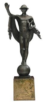statue of mercury, fifth avenue traffic light decoration by joseph freedlander