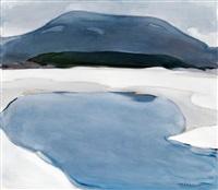 winter landscape by h. (einar reuter) ahtela