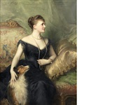 portrait of mrs arthur james by sir samuel luke fildes