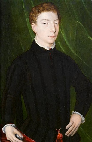 portrait of a young gentleman half length by agnolo bronzino