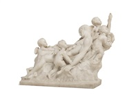 fallen warrior with four putti by anonymous (20)