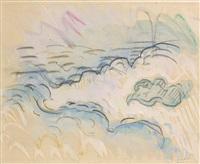 etude de nuages by paul signac