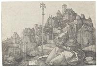 der heilige antonius vor der stadt by albrecht dürer