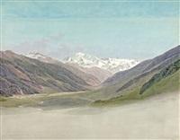 vue du mont rose depuis le nord by jean-antoine linck