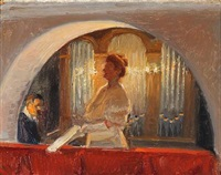 ellen guldbrandsen in skagen church by michael peter ancher
