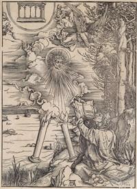 johannes, das buch verschlingend, 8. fig. (from die apokalypse) by albrecht dürer