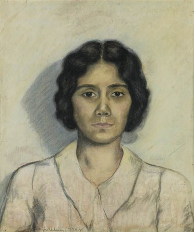 untitled portrait of a young woman by beauford delaney