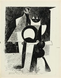 untitled (cubist standing figure) (recto-verso) by arshile gorky