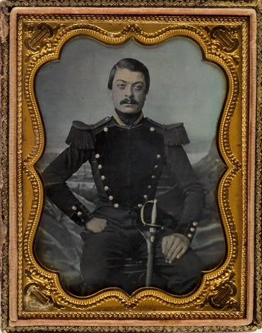 Group of 5 hard images of military figures in full dress by