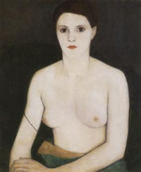 akt zöld fotelben (nude in a green armchair) by edith basch