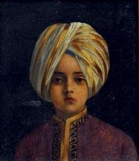 portrait d'un jeune prince indien (kanwar sahib) by antoine druet