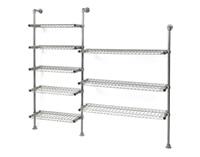 kee-klamp shelving unit by ron arad