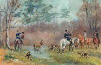 chasse à courre by karl andré jean (baron) reille