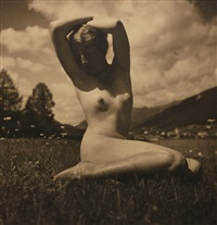 nude in the meadow by rudolf koppitz