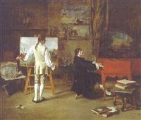 in the studio of joseph vernet by lucien alphonse gros